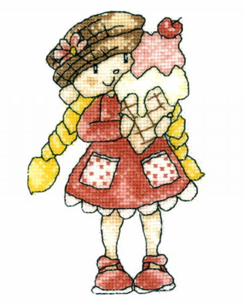 Little Stars Ice Cream Cross Stitch Kit
